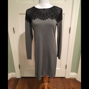 Daisy Fuentes L/S Grey Sweater Dress